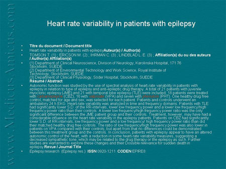 Технология вариабельности сердечного ритма в исследовании пароксизмальных состояний
